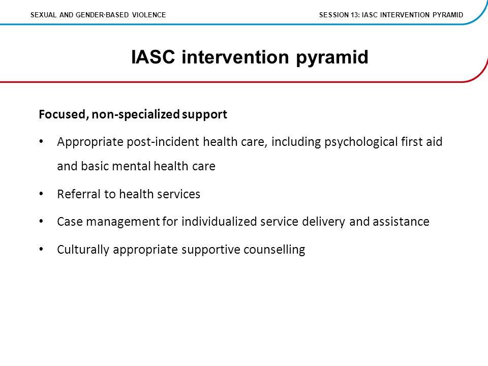 22 IASC intervention pyramid