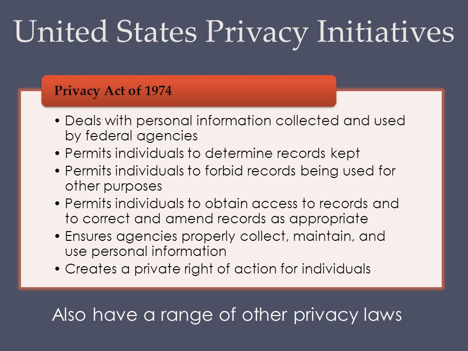 Privacy Act of 1974