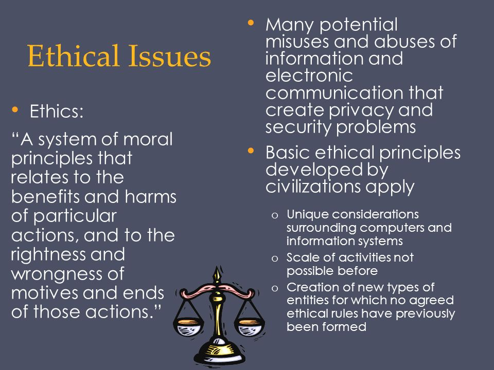an evaluation of the ethical dilemmas of the new technology in computers Explore specific ethical issues raised by the ubiquity the uses of computers, based on explicit ethical research new and emerging issues.