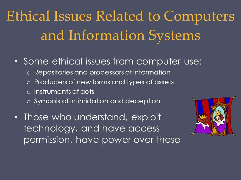 ethical problems associated to information technology essay The problem to be investigated is the ethical use of information ethical changes within society information technology essay legal codes that govern the legitimate opportunities of employees to engage in unethical behaviors while using company associated information technology.