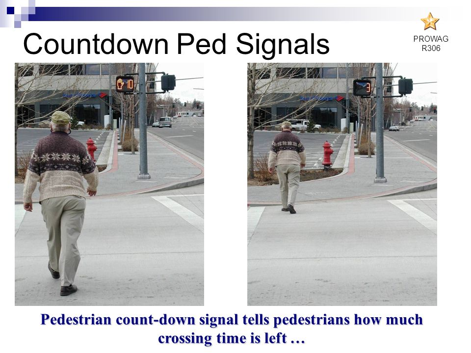 Countdown Ped Signals PROWAG. R306.