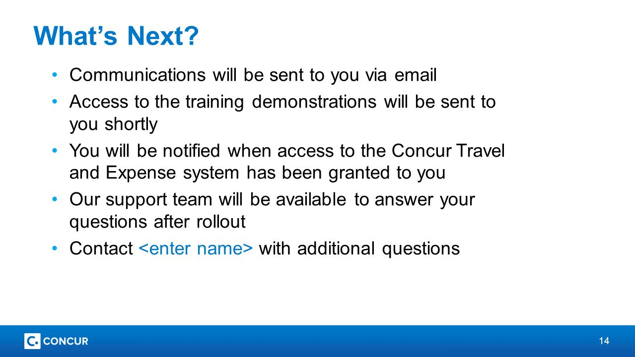 Concur Travel And Expense Rollout Ppt Video Online Download