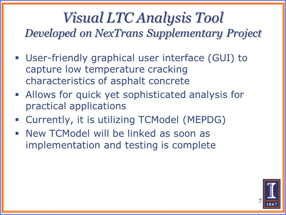 Visual LTC Analysis Tool Developed on NexTrans Supplementary Project