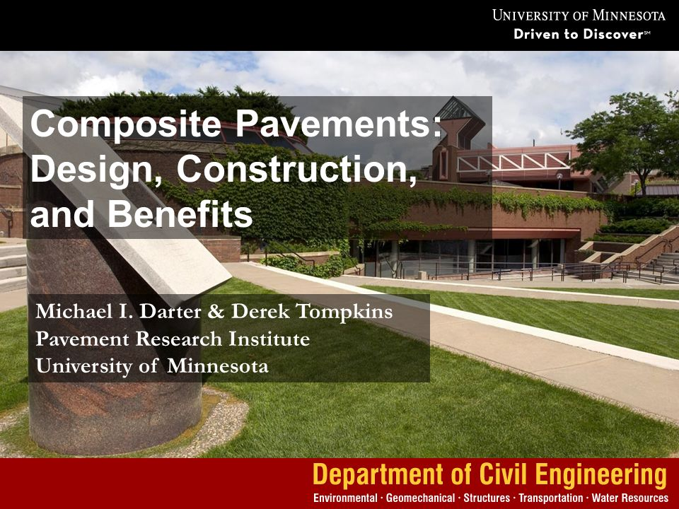 Composite Pavements: Design, Construction, and Benefits