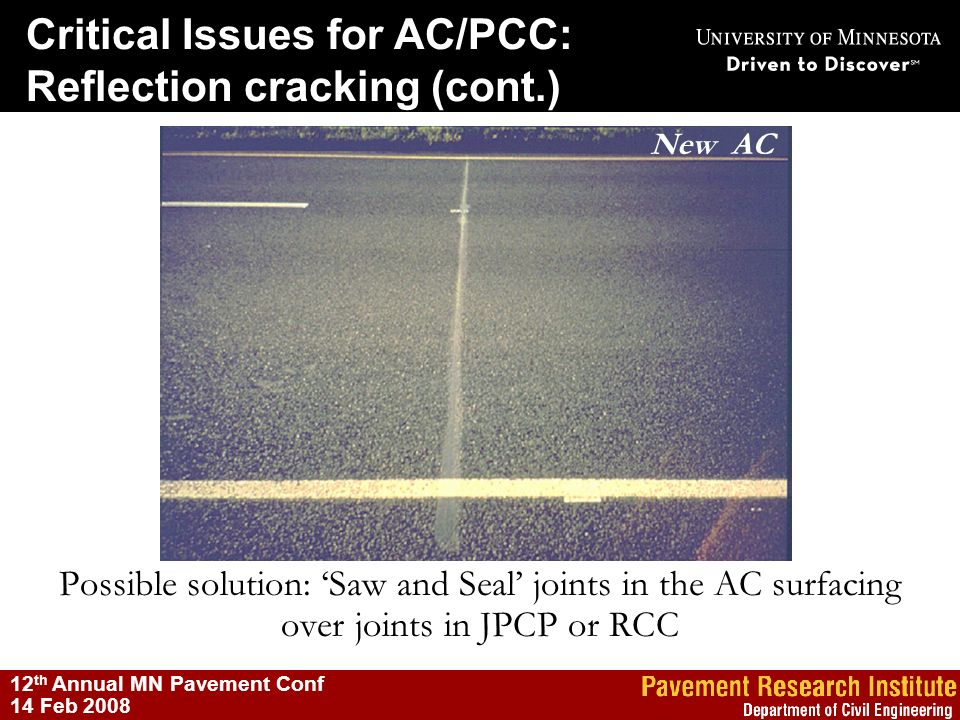 Critical Issues for AC/PCC: Reflection cracking (cont.)