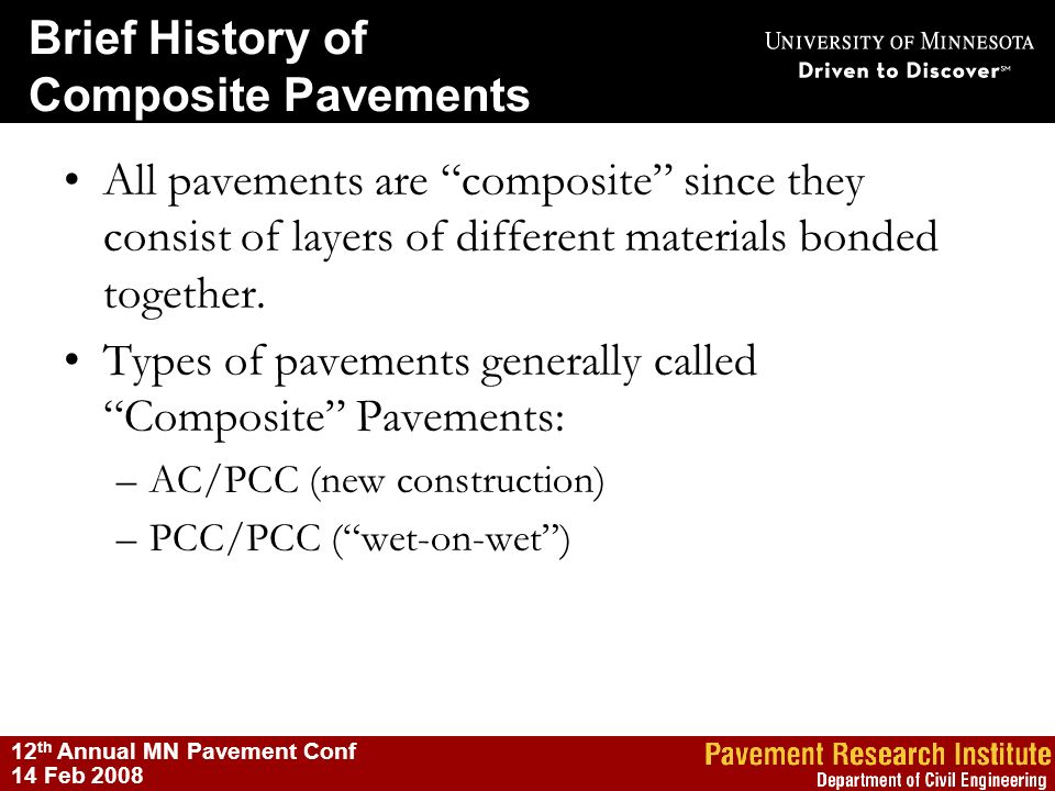 Types of pavements generally called Composite Pavements: