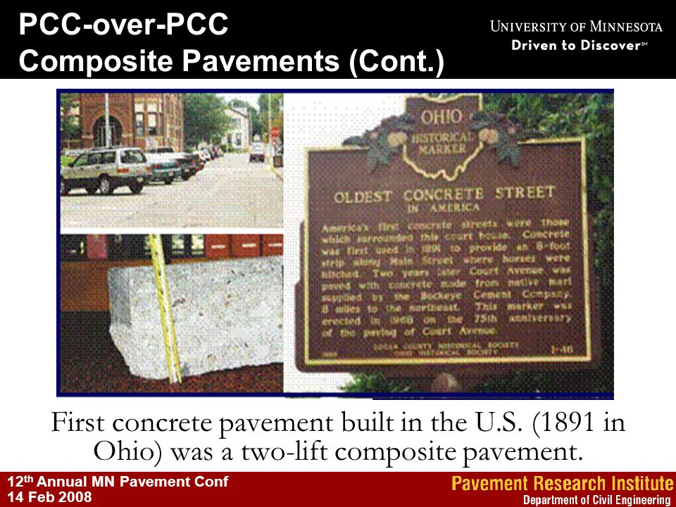 Composite Pavements (Cont.)