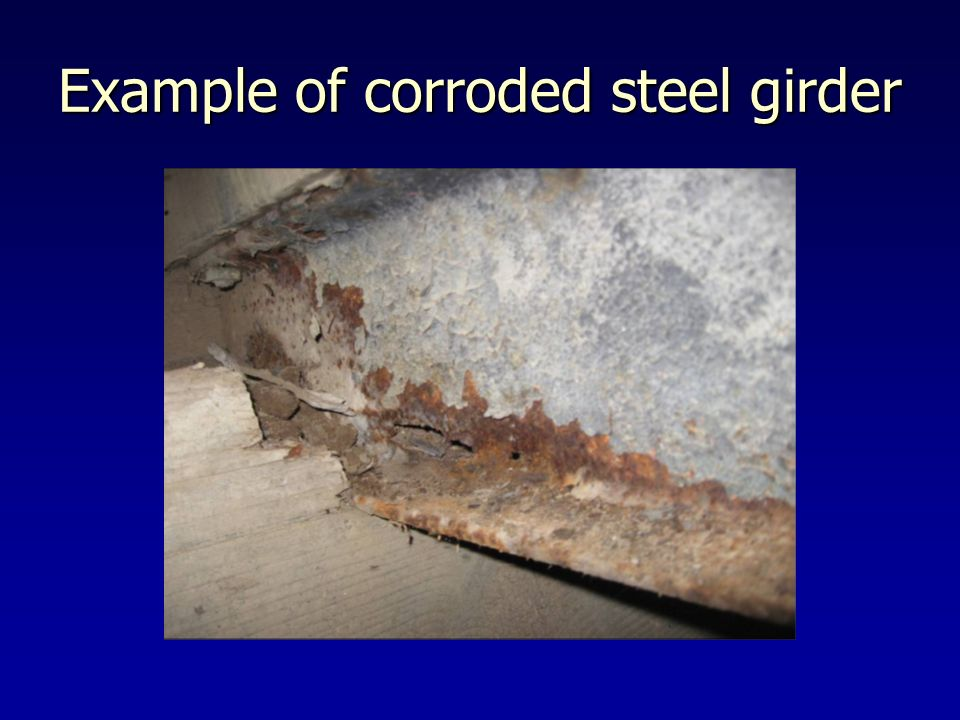 Example of corroded steel girder