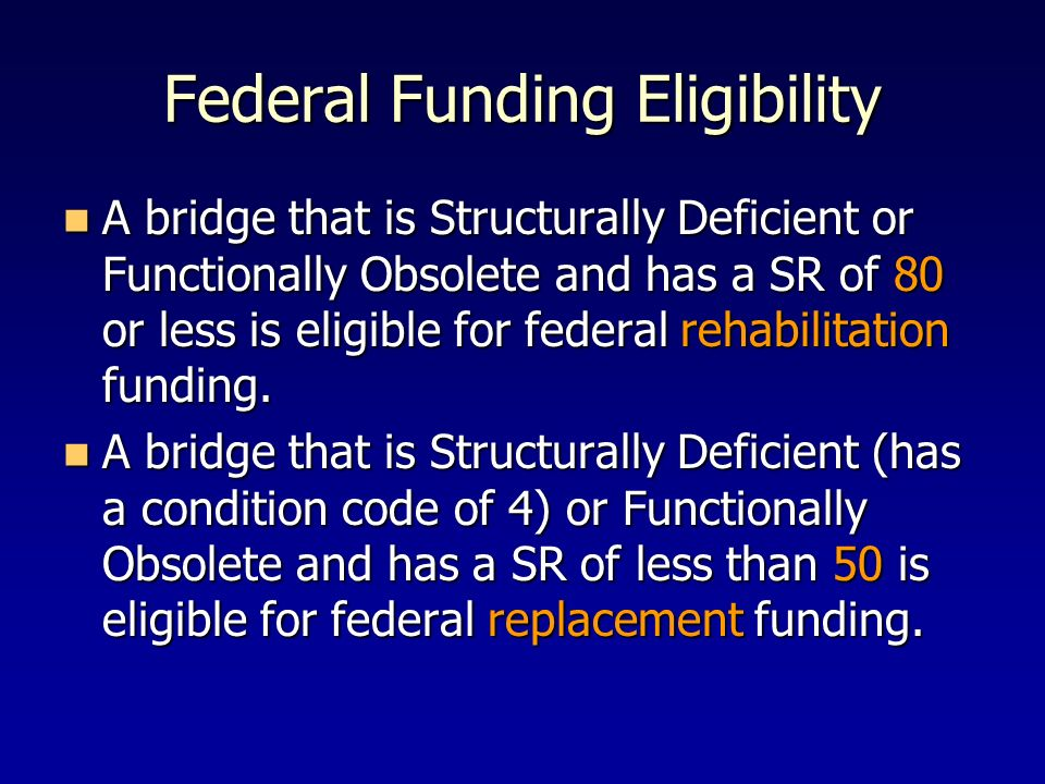 Federal Funding Eligibility
