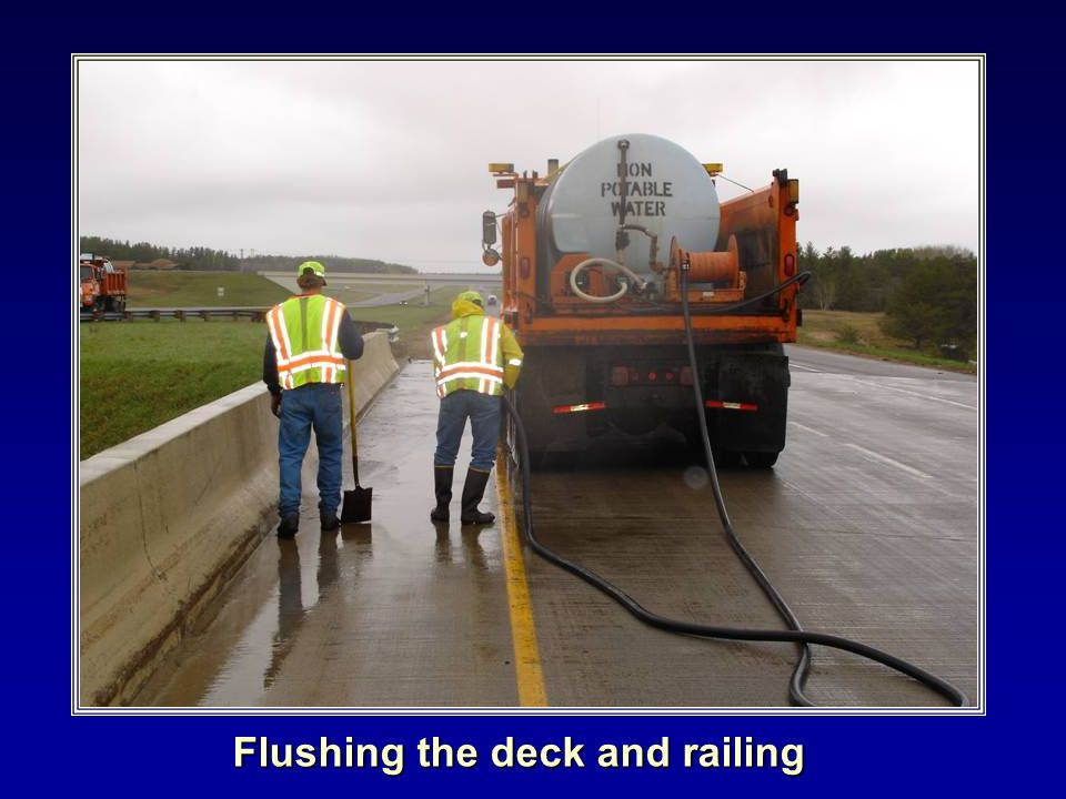 Flushing the deck and railing