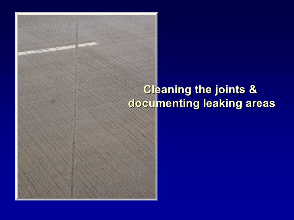 documenting leaking areas