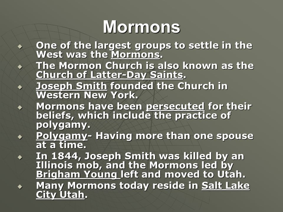 the belief and practice of polygamy by the mormons While mormons believed that polygamy strengthened their identity and brought them closer to their religious patriarchs, the practice stood at odds with prevailing practice in the united states, and a federal government that wanted to maintain control of territories captured further west.