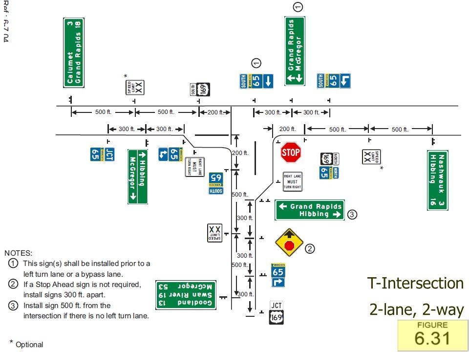 T-Intersection 2-lane, 2-way