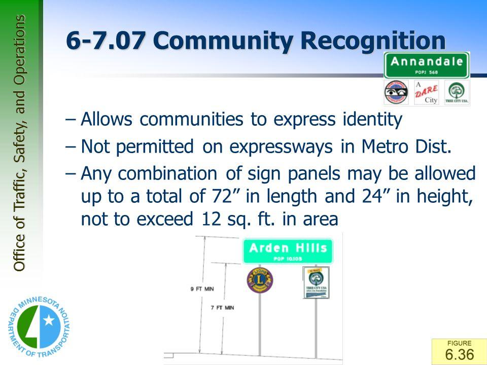 6-7.07 Community Recognition