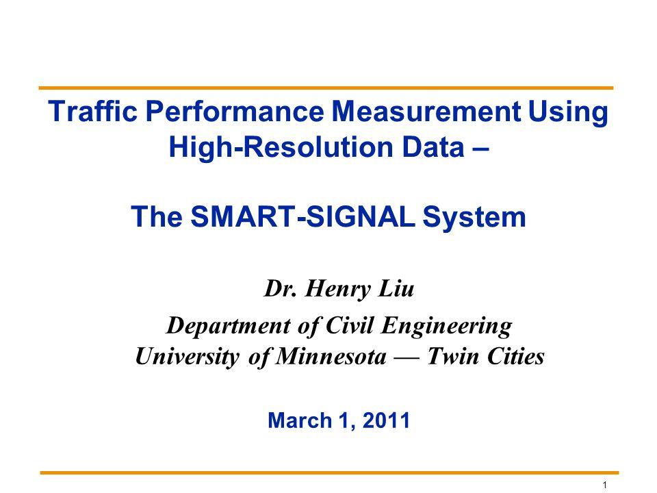 Department of Civil Engineering University of Minnesota — Twin Cities