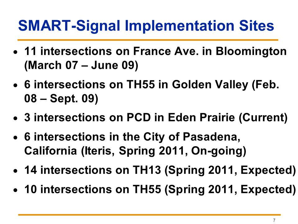 SMART-Signal Implementation Sites