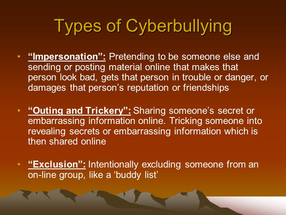 Types of Cyberbullying