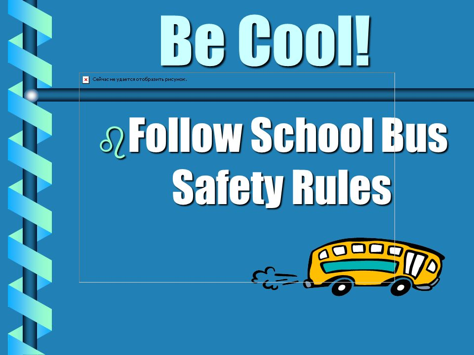 Follow School Bus Safety Rules