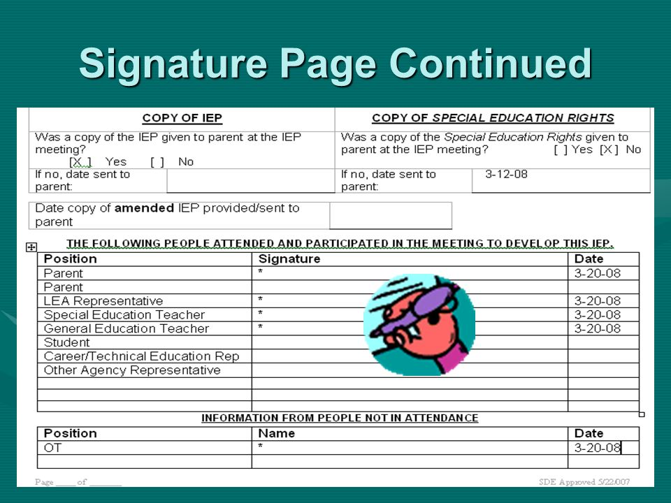 Signature Page Continued