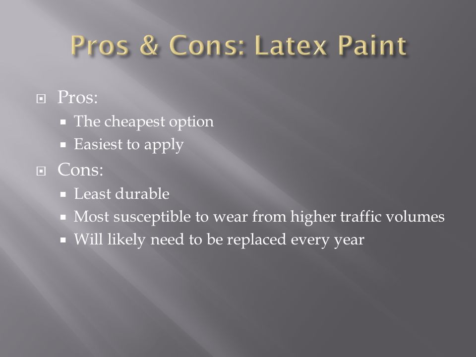 Pros & Cons: Latex Paint