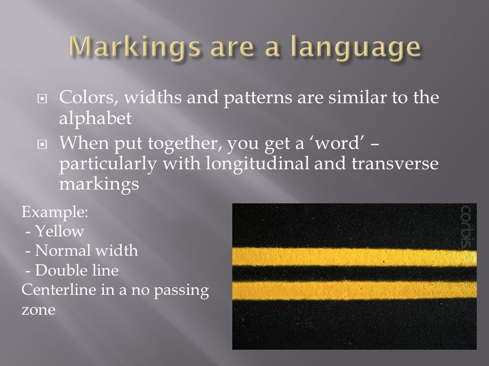 Markings are a language