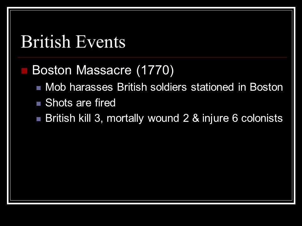 British Events Boston Massacre (1770)