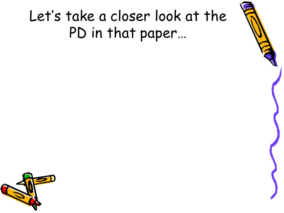 Let's take a closer look at the PD in that paper…