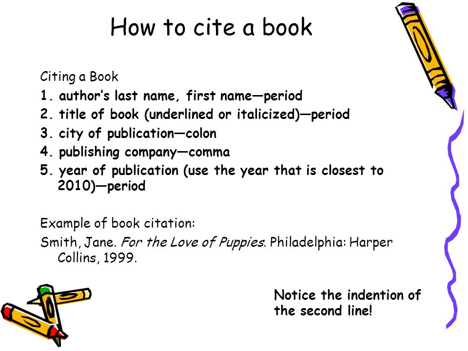 How to cite a book Citing a Book