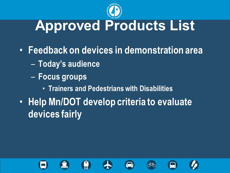 Approved Products List