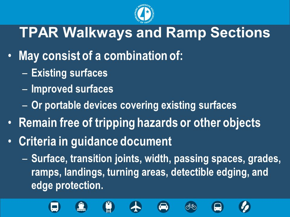 TPAR Walkways and Ramp Sections