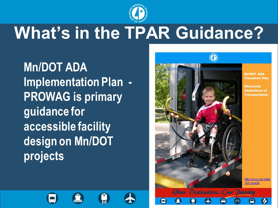 What's in the TPAR Guidance