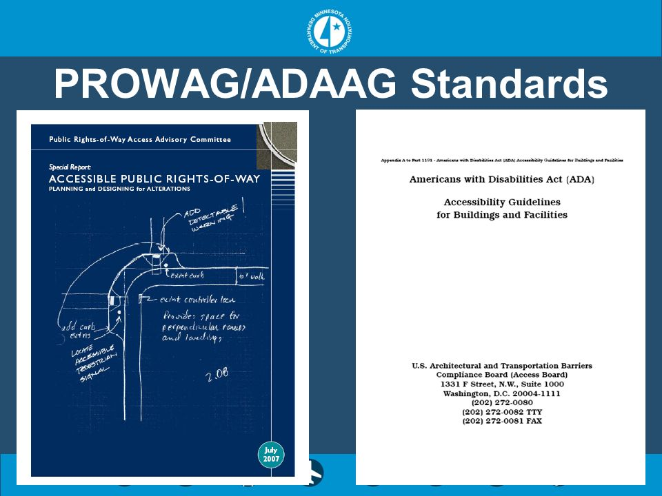 PROWAG/ADAAG Standards