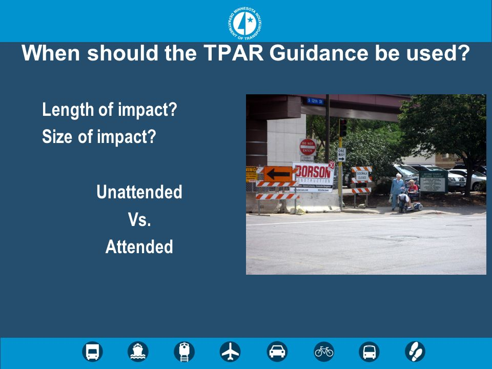 When should the TPAR Guidance be used