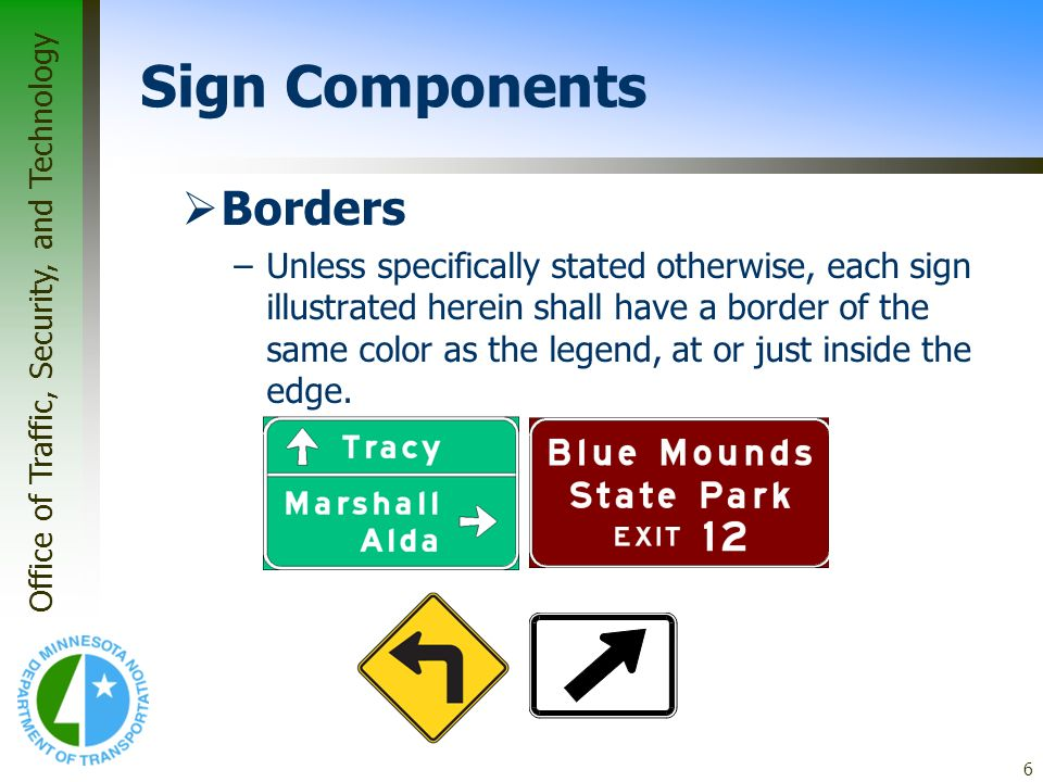 Sign Components Borders