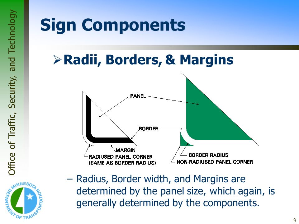 Sign Components Radii, Borders, & Margins