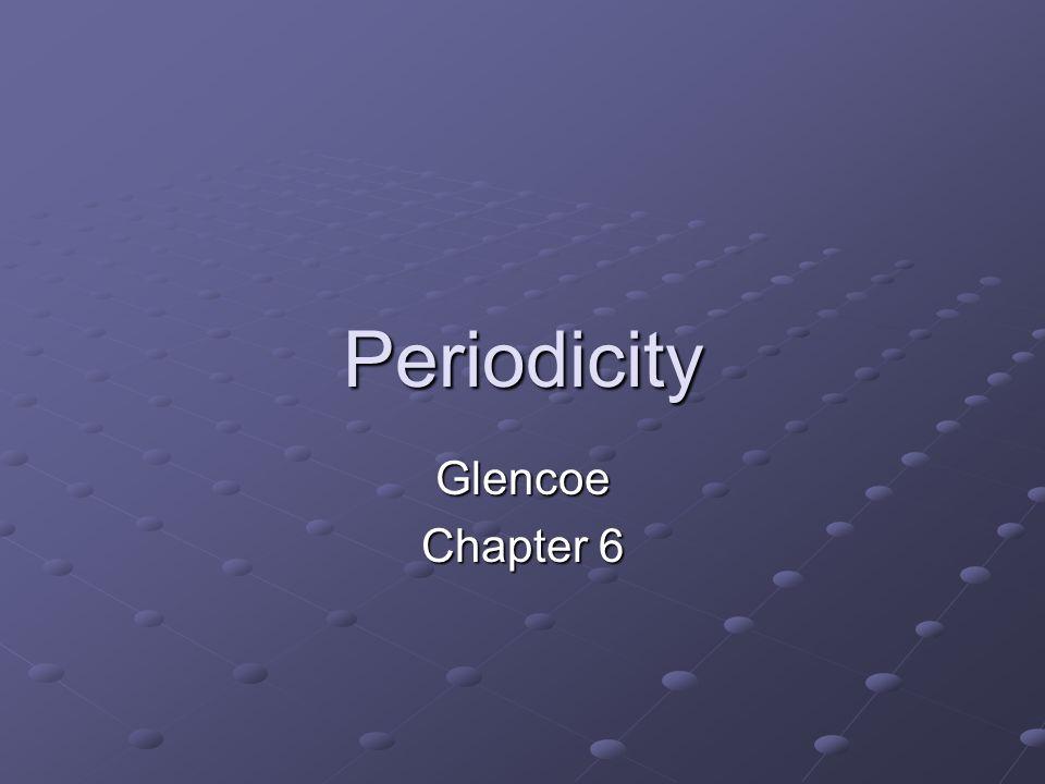 Periodicity Glencoe Chapter 6