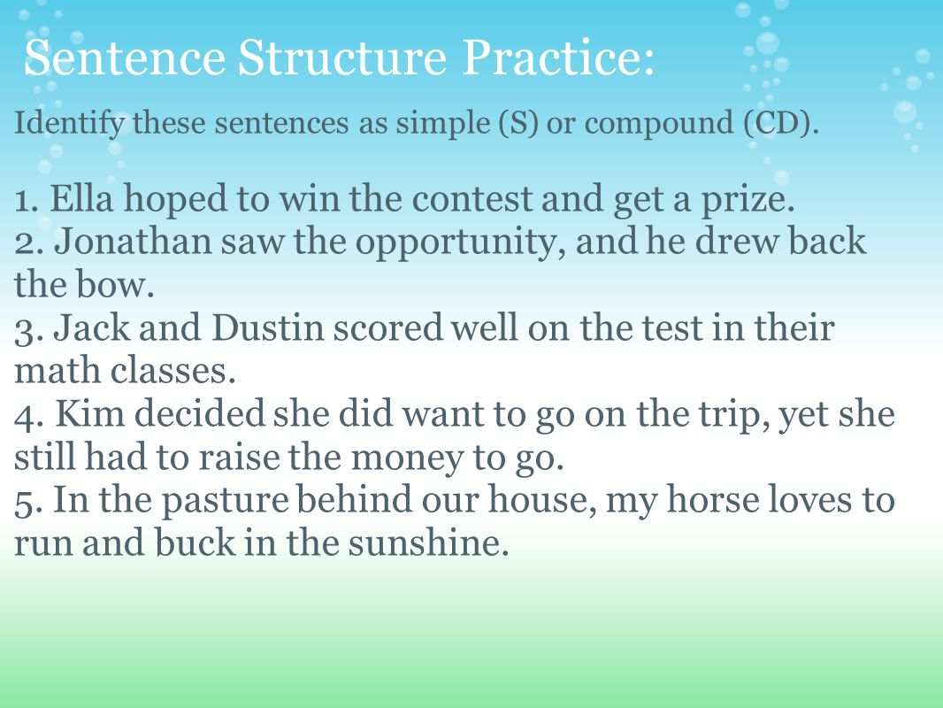 run on sentence test pdf