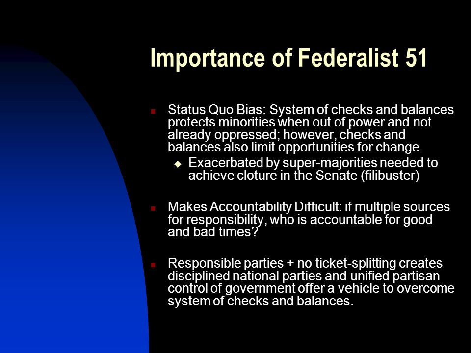 Importance of Federalist 51
