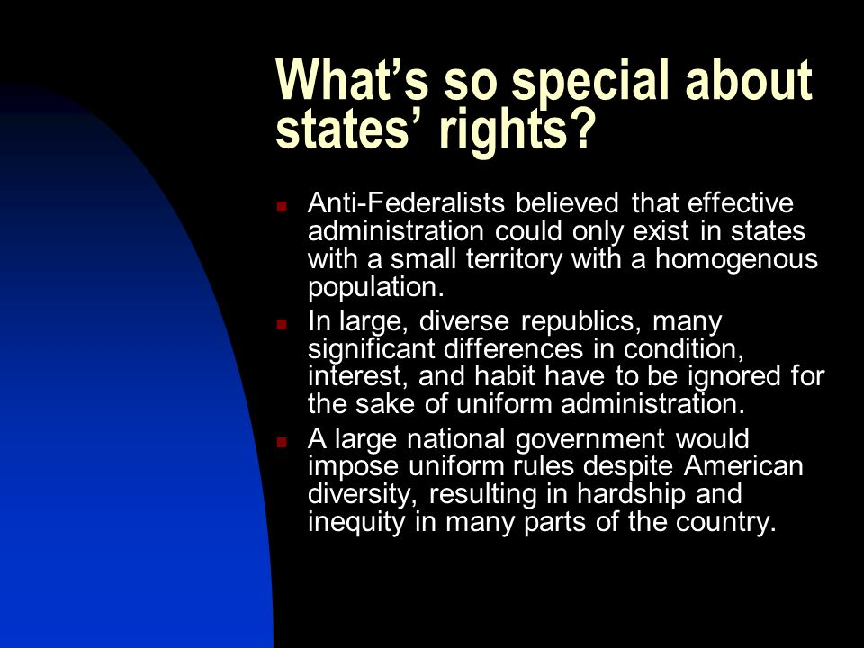 What's so special about states' rights
