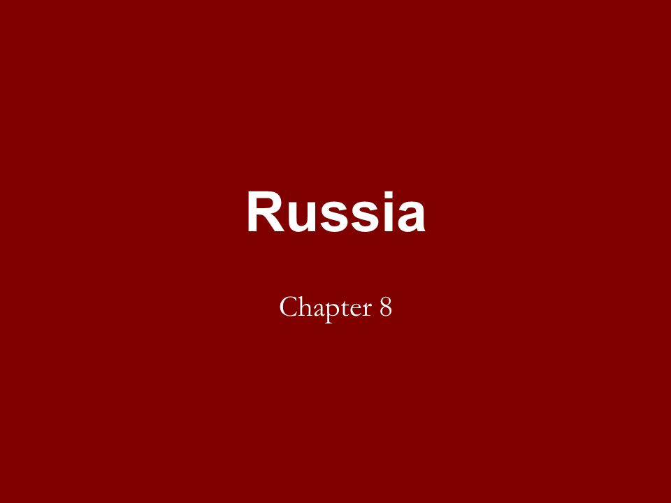 Russia Chapter 8