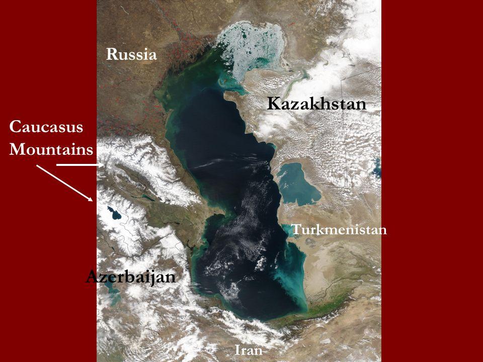Russia Kazakhstan Caucasus Mountains Turkmenistan Azerbaijan Iran