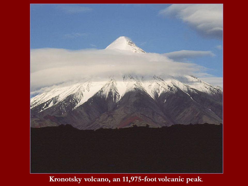 Kronotsky volcano, an 11,975-foot volcanic peak.