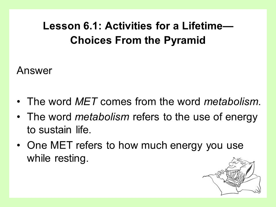 Lesson 6.1: Activities for a Lifetime— Choices From the Pyramid