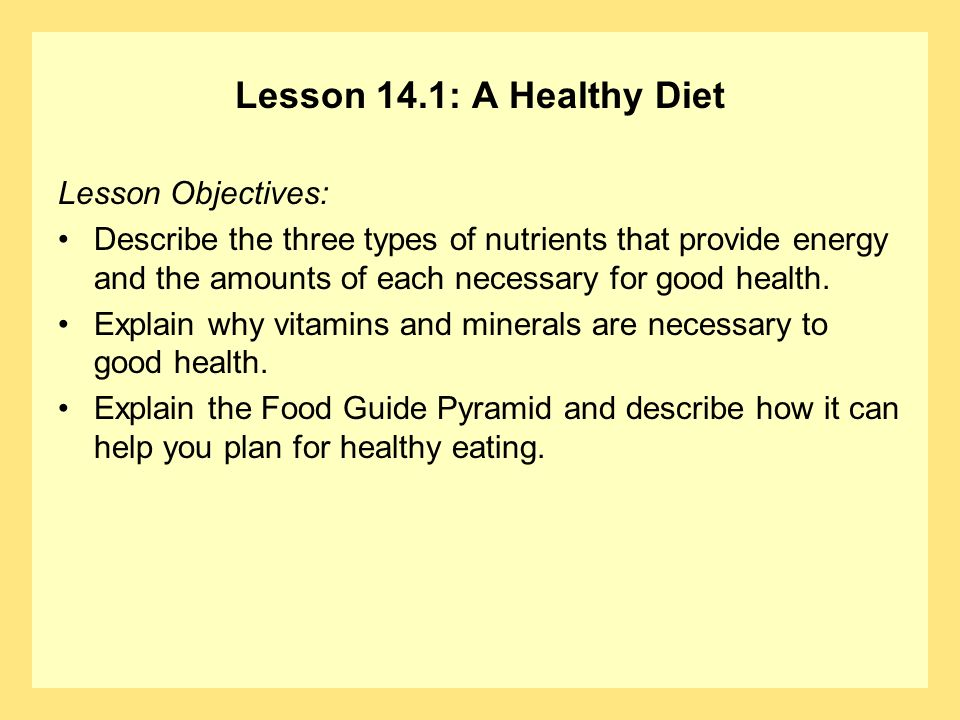 Sample low potassium diet plan