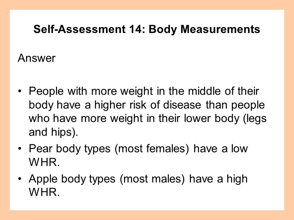 Self-Assessment 14: Body Measurements