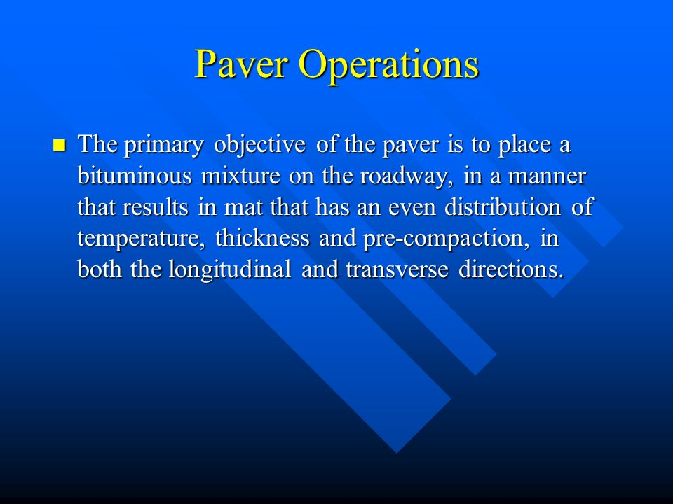 Paver Operations