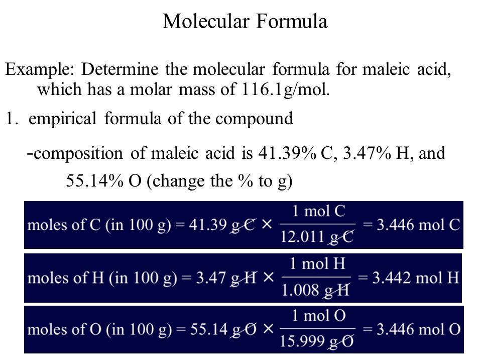 -composition of maleic acid is 41.39% C, 3.47% H, and
