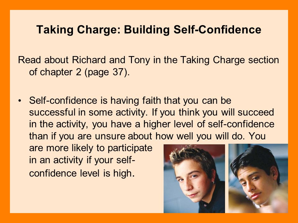 Taking Charge: Building Self-Confidence