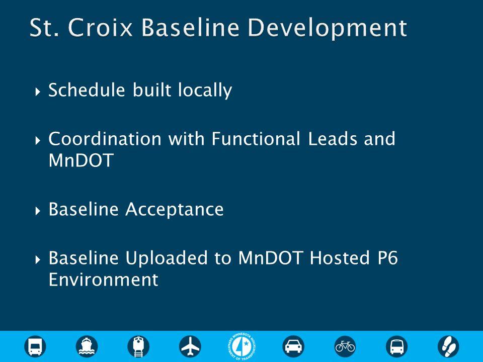 St. Croix Baseline Development