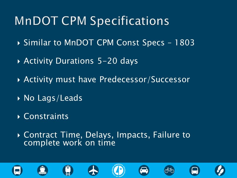 MnDOT CPM Specifications